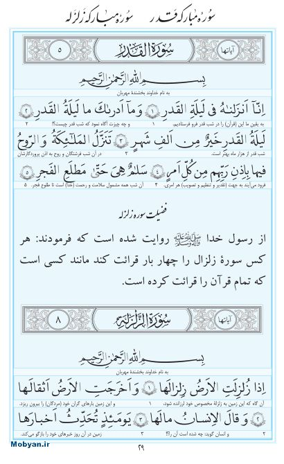 مفاتیح مرکز طبع و نشر قرآن کریم صفحه 29