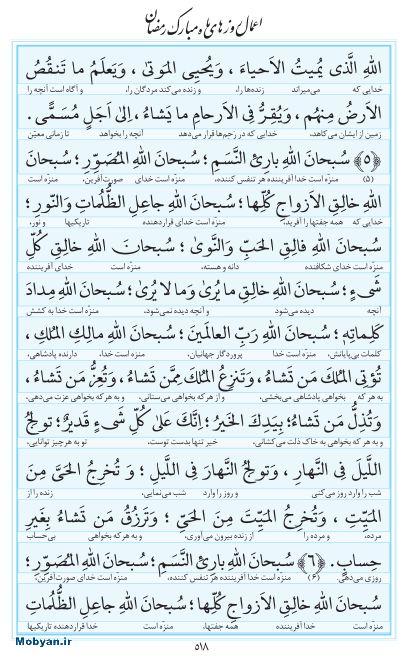 مفاتیح مرکز طبع و نشر قرآن کریم صفحه 518