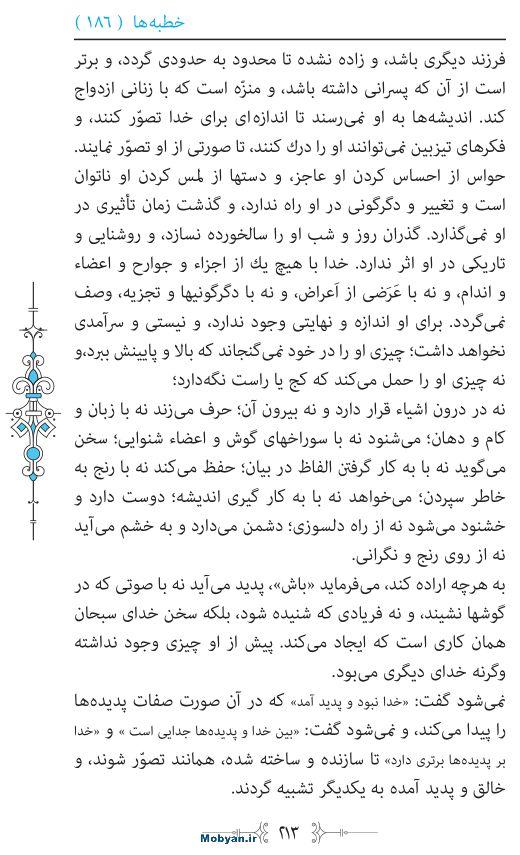 نهج البلاغه مرکز طبع و نشر قرآن کریم صفحه 213