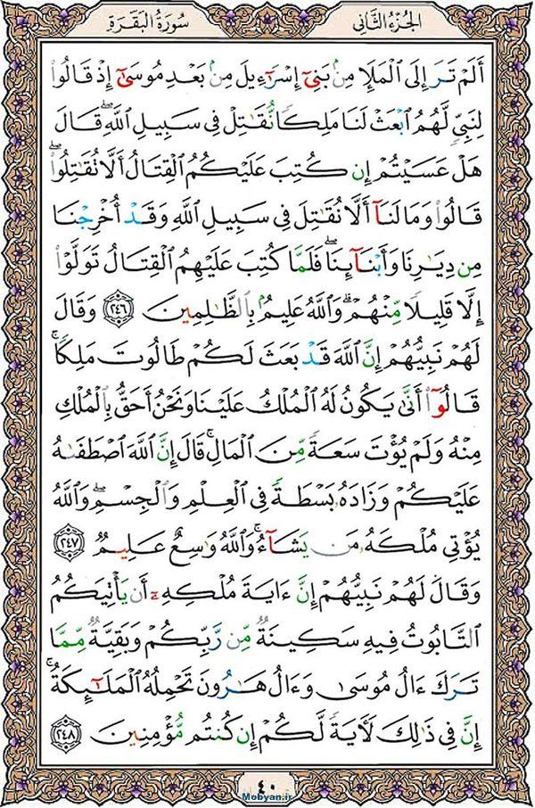 قرآن  عثمان طه با کیفیت بالا صفحه 40