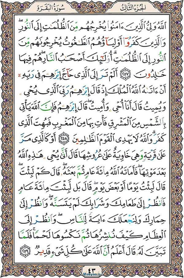 قرآن  عثمان طه با کیفیت بالا صفحه 43